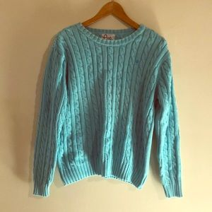 Lily Pulitzer Light Blue Sweater sz. XL